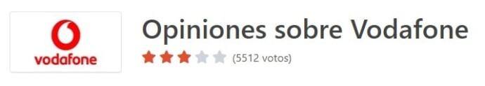 Opiniones sobre Vodafone