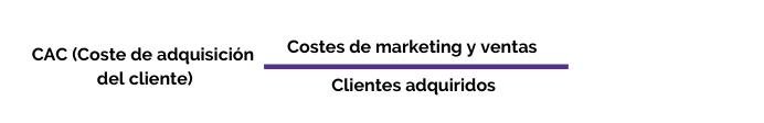 Fórmula CAC - Coste de adquisición de clientes